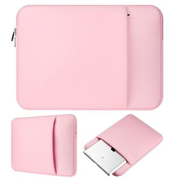 "Pink Neoprene laptop notebook case sleeve bag Clutch Wallet Computer Pocket for Macbook Pro Air Retina 11"" 12"" 13"" 15"" 15.6"""