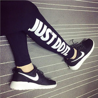S-XL Hot Sale 2015 New Casual Women Harajuku Printed Work Out Black Slim Sexy Bottom Gym Sport Leggings Women
