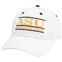The Game Appalachian State Mountaineers White 3D Bar Adjustable Hat