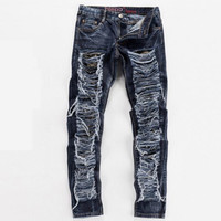 Distressed & Shredded Denim Jeans