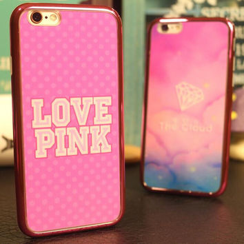 Love pink mobile phone case for iphone 5 5s SE 6 6s 6plus 6s plus + Nice gift box!