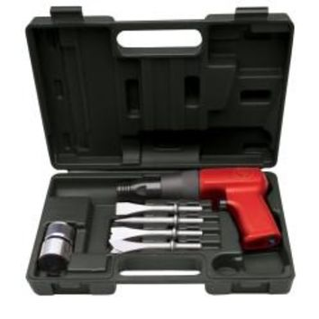 CHICAGO PNEUMATIC Air Hammer Kit, Shock Reduced Tool W/Chisels & Qc CPT7110K