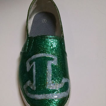 GLITTER FLATS Shoes High School, Junior High, Middle School Custom for YOUR team