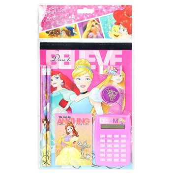 Disney Princess Belle Ariel Rapunzel School Stationery Set for Girls