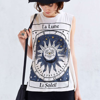 Sun Print Sleeveless Shirt
