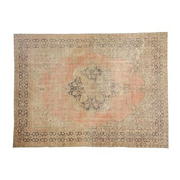 8x10.5 Vintage Distressed Oushak Carpet
