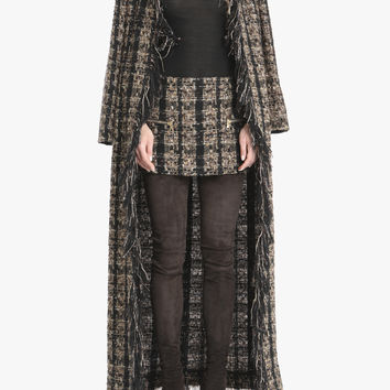 Long tweed cardigan | Women's coats | Balmain