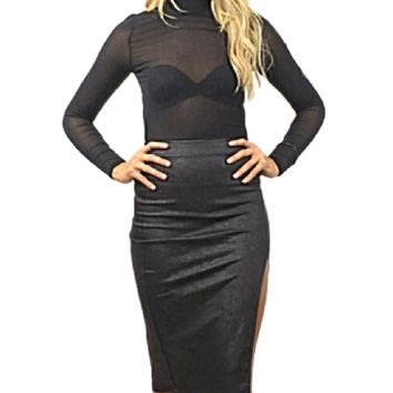 Jaide Pleather Pencil Skirt