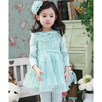 Girl's Three Color Lovely Lace Dress #01127865