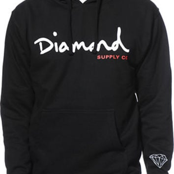 Diamond Supply Co OG Script Black Pullover Hoodie