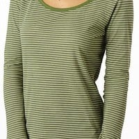 Organic Long Sleeve Tee - striped