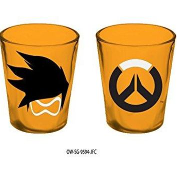 1.5oz Blizzard OFFICIAL Overwatch PREMIUM Orange Tracer Shot Glass GIFT