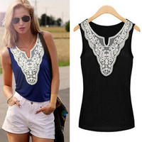 'The Magan' Lace Paneled Tank Tops