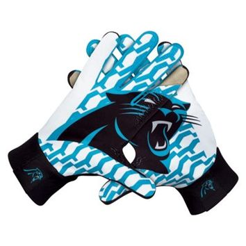 Nike Carolina Panthers Stadium Gloves - Black