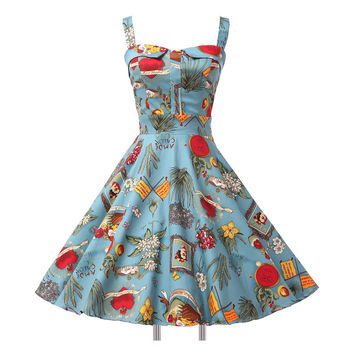 Ladies Cotton Rockabilly Dress