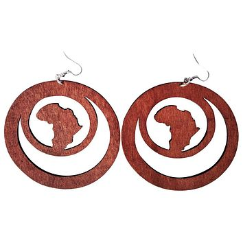 Africa within earrings (3 colors)  | Africa shaped earrings | African earrings | Natural hair earrings | Afrocentric earrings | jewelry | accessories
