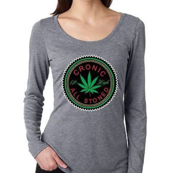 Cronic All Stoned Women's Long Sleeve Shirt
