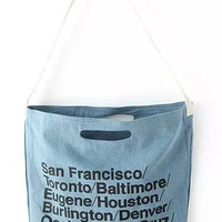 Blue Canvas Demin Bag