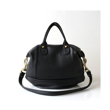 Soft Leather bag - Opelle Vanda Mini in Black pebbled leather NEW ss2013
