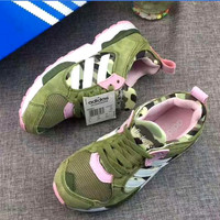ADIDAS ZX5000  Fashion Women sports shoes Sneaker Camouflage green pink H-ALXY JL