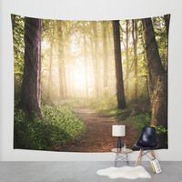 Forest Path Wall Tapestry by Tjc555 | Society6
