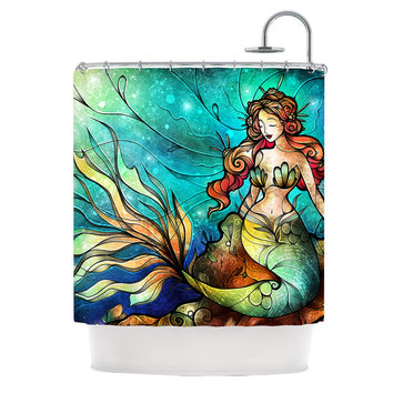 "Mandie Manzano ""Serene Siren"" Shower Curtain"