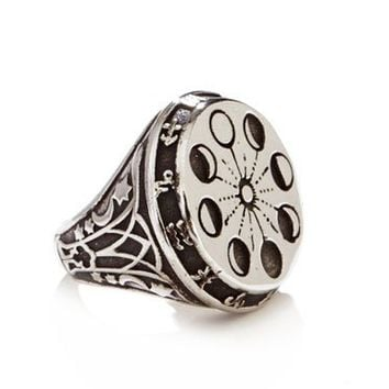 ManiaMania Silver Moon Phase Ring
