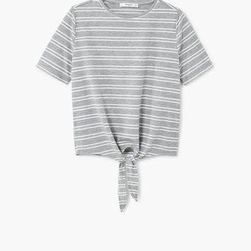 Knot striped t-shirt