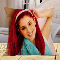 "Ariana Grande 2 on square pillow cover 16"" 18"" 20"""