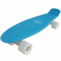 Bl-wt Blank Complete Plastic Cruiser Fashionable Skateboard Blue Board ABEC-7 Bearings