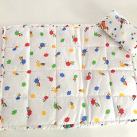 Darling Doll Quilt and Pillow, Rainbows, Clowns, Stars and Circus