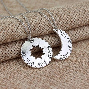 PEAPIX3 My sun and stars''Moon of my life' Necklace Accessory [9535611076]