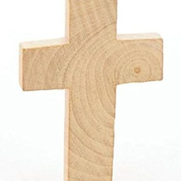 Factory Direct Craft® Package of 24 Unfinished Wood Crosses for VBS, Scouts and Bible School Projects