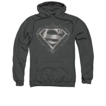 Superman Tribal Shield DC Comics Licensed Adult Pullover Hoodie