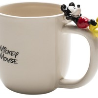 Zak Designs Disney Mickey Mouse Ceramic Coffee Mug with Figurine
