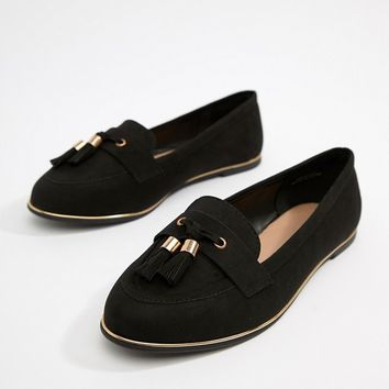 New Look Wide Fit Tassel Loafer at asos.com