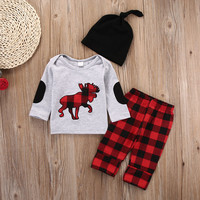 3PCS Set Baby Girls Boys Clothes