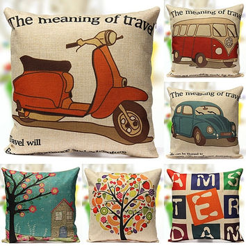 Vintage Cotton Linen Throw Pillow Cases Home Decor Sofa Car Back Cushion Cover = 5617064001