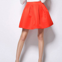 Cute Red Bubble Mini Skater Skirt