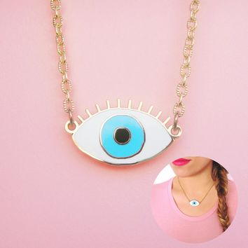Blue Eyes Necklace
