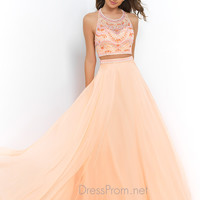 Two Piece Blush Prom Dress 9916