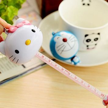 1 Piece Cartoon Kawaii Hello Kitty Doraemon Sewing Retractable Crafts Ruler Tape Measures Cloth Dieting Tailor Party Favor