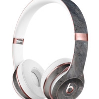 Rough Gray Scratched Surface Full-Body Skin Kit for the Beats by Dre Solo 3 Wireless Headphones