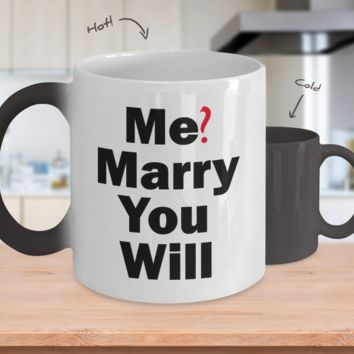 Will You Marry Me Color Changing Mug