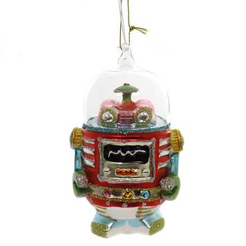 Holiday Ornaments ROBOT. Glass Space Technology Tt0836 A