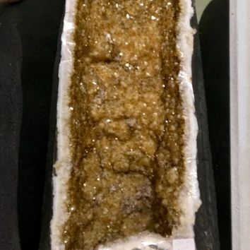 Citrine Geode from Brazil 36 Inch Tall 260 LBS Christmas Gift \ Healing Crystal \ Healing Stone \ Chakra \ Home Decor \ Manifestation \ RAW