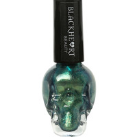 Blackheart Green Gold Glitter Nail Polish