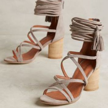 Jeffrey Campbell Despina Heels in Taupe Size: