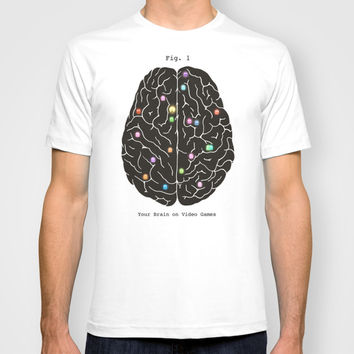 Your Brain On Video Games T-shirt by Terry Fan