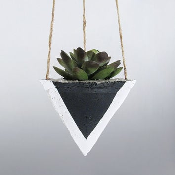 Air Planter, Hanging Planter, Cement Planter, Succulent Planter, Modern Planter, Geometric Planter, White Planter, Mini Planter, Black